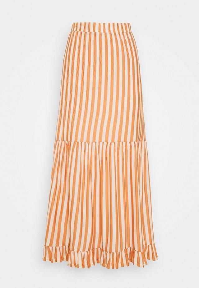 SLFSABINE MIDI SKIRT - A-line skirt - sandshell/caramel