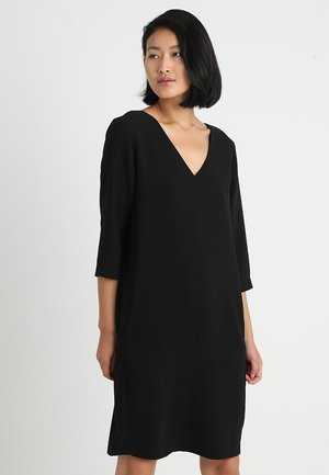 SLFTUNNI SMILE 3/4 DRESS  - Denní šaty - black