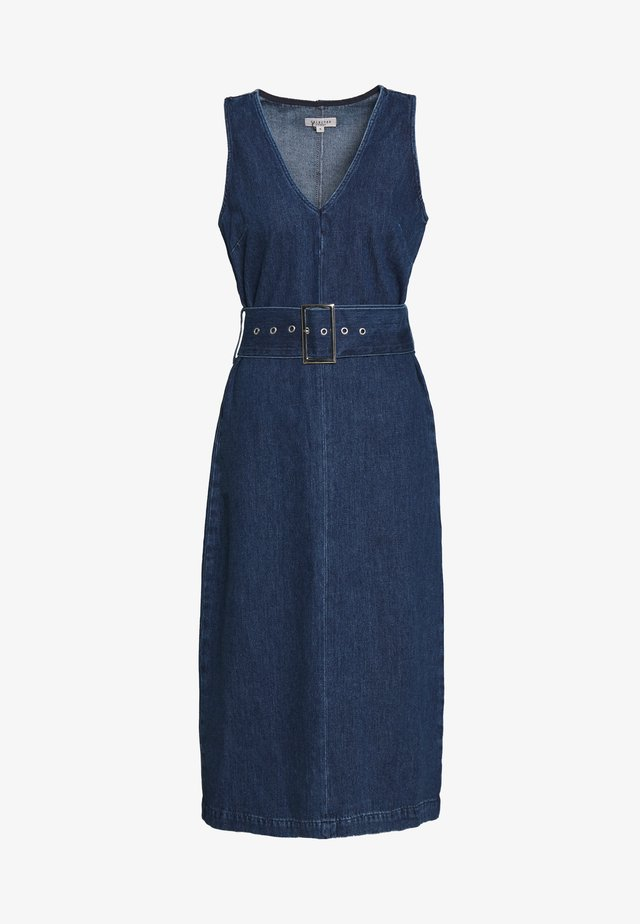 SLFDEMINA DRESS  - Jeanskjole / cowboykjoler - dark blue denim