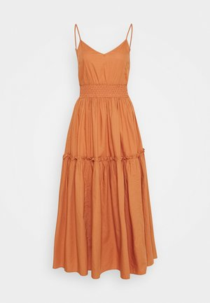 SLFCARLOTTA MIDI STRAP DRESS - Robe longue - caramel