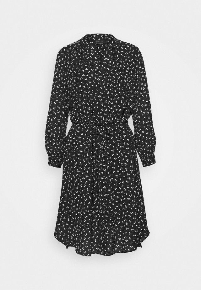 SLFDAMINA 7/8 DRESS - Day dress - black