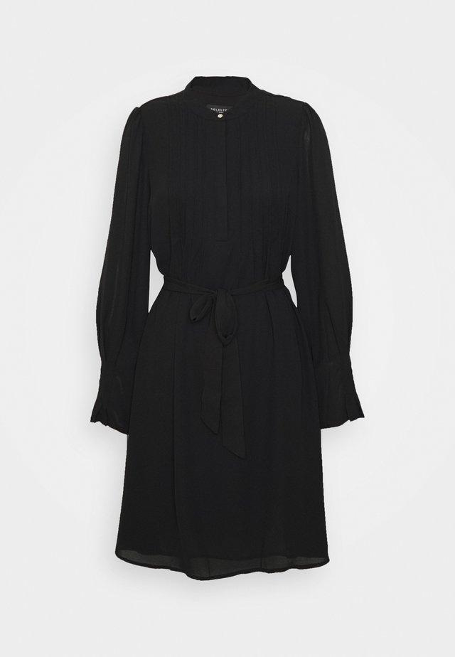 SLFLIVIA SHORT DRESS NOOS - Day dress - black