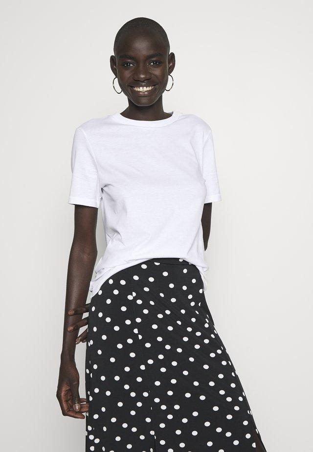 SFMY PERFECT TEE BOX CUT  - T-shirt - bas - white
