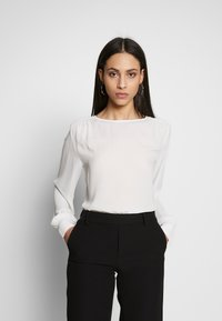 Selected Femme Tall - SLFASHA TALL - Bluser - snow white - 0