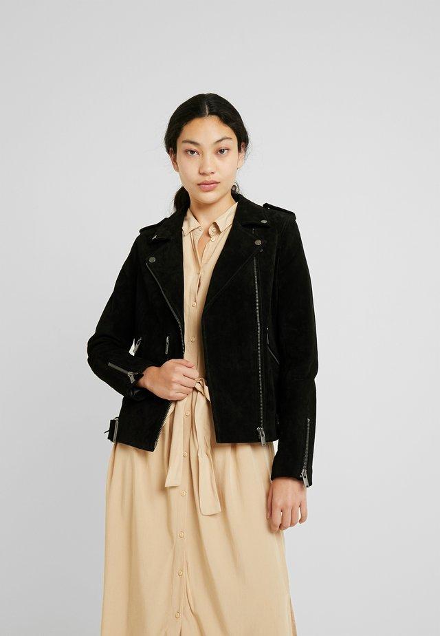 SLFSANELLA SPLIT JACKET - Leather jacket - black