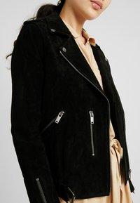 Selected Femme Tall - SLFSANELLA SPLIT JACKET - Lederjacke - black - 5