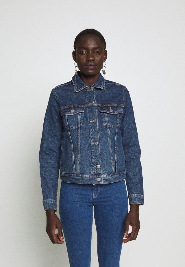 SLFSTORY SPRUCE JACKET - Kurtka jeansowa - dark blue denim