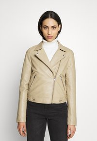 Selected Femme Tall - SLFKATIE JACKET  TALL - Kurtka skórzana - cornstalk - 0