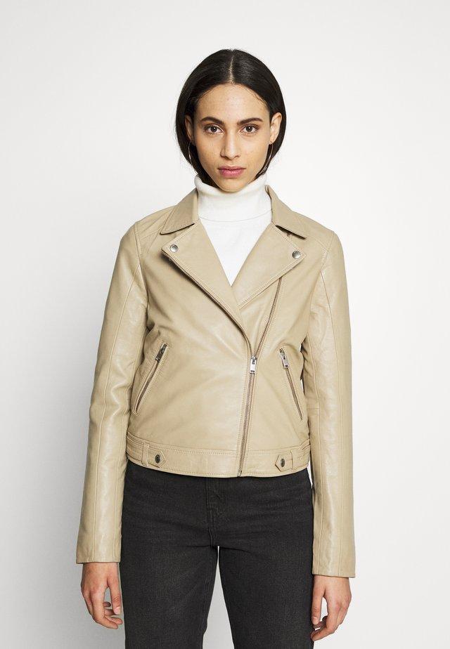 SLFKATIE JACKET  - Leather jacket - cornstalk