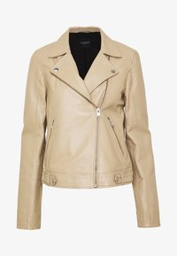 Selected Femme Tall - SLFKATIE JACKET  TALL - Kurtka skórzana - cornstalk - 5