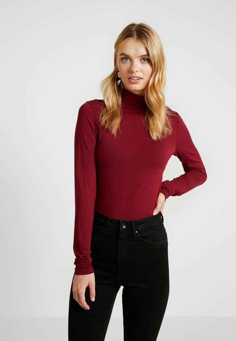 Selected Femme Tall - HIGHNECK TALL - Long sleeved top - cabernet