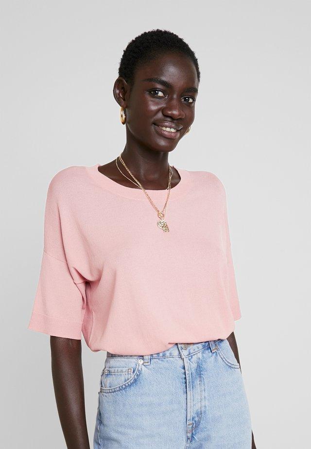 SLFWILLE O NECK - T-Shirt basic - bridal rose