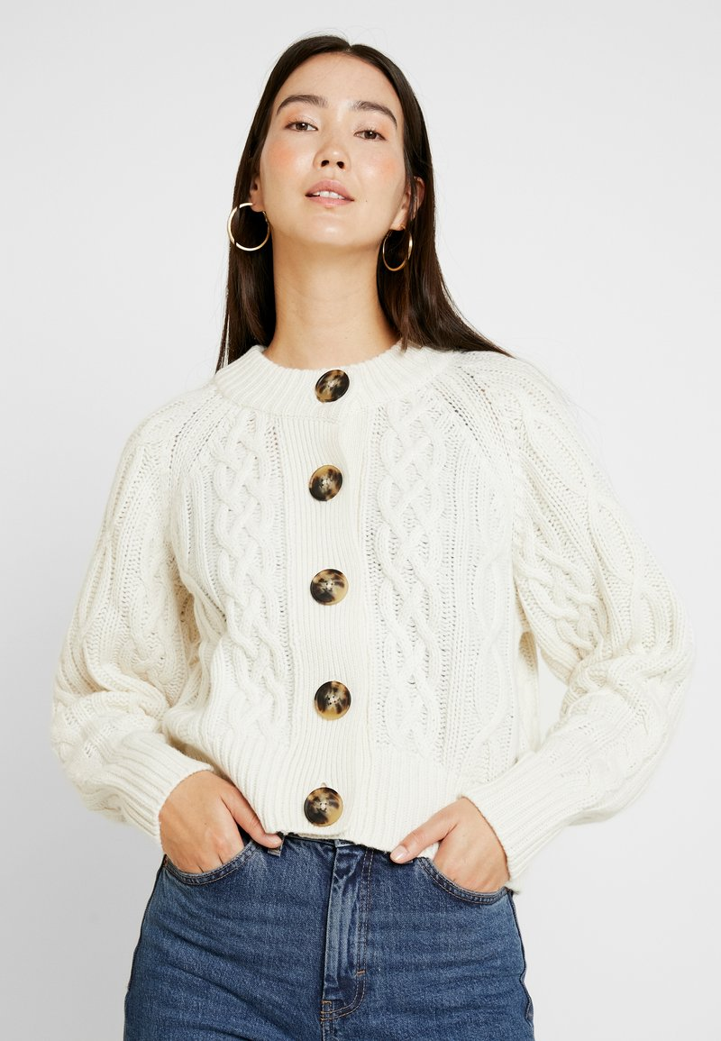 Selected Femme Tall - SLFVALENTINA CROPPED - Cardigan - snow white