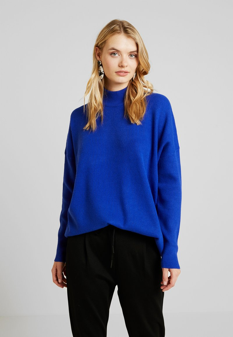 Selected Femme Tall - SLFPHILUA HIGHNECK - Strickpullover - clematis blue