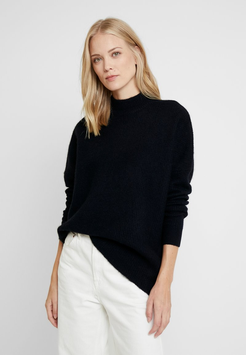 Selected Femme Tall - SLFENICA O-NECK  - Strickpullover - night sky