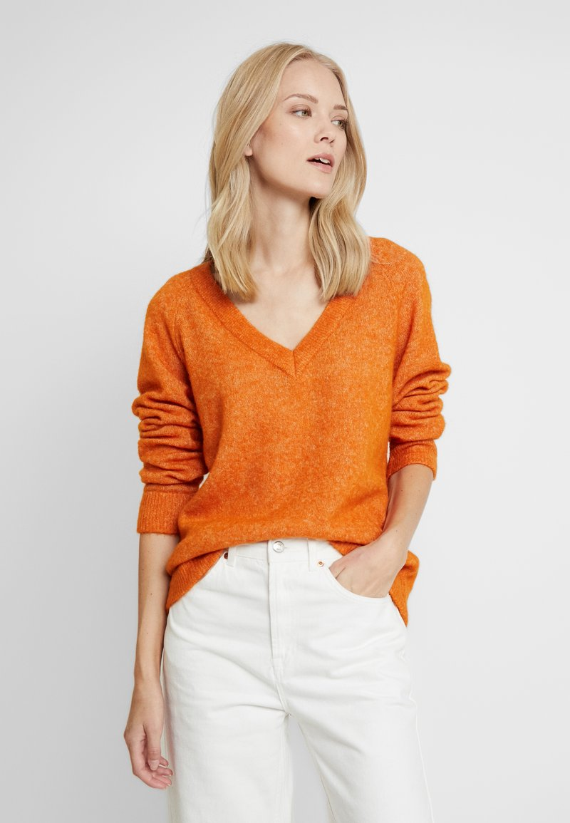 Selected Femme Tall - SLFLANNA V NECK - Maglione - hawaiian sunset