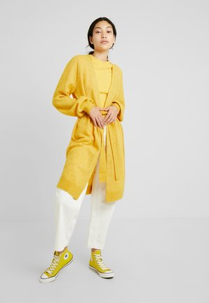 SLFANNA CARDIGAN - Chaqueta de punto - lemon curry