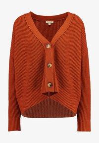 Selected Femme Tall - SLFCAROLINE CROP CARDIGAN - Cardigan - ginger bread - 4