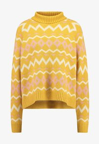 Selected Femme Tall - SLFNORMA - Jersey de punto - lemon curry/cameo brown/sandshell - 4
