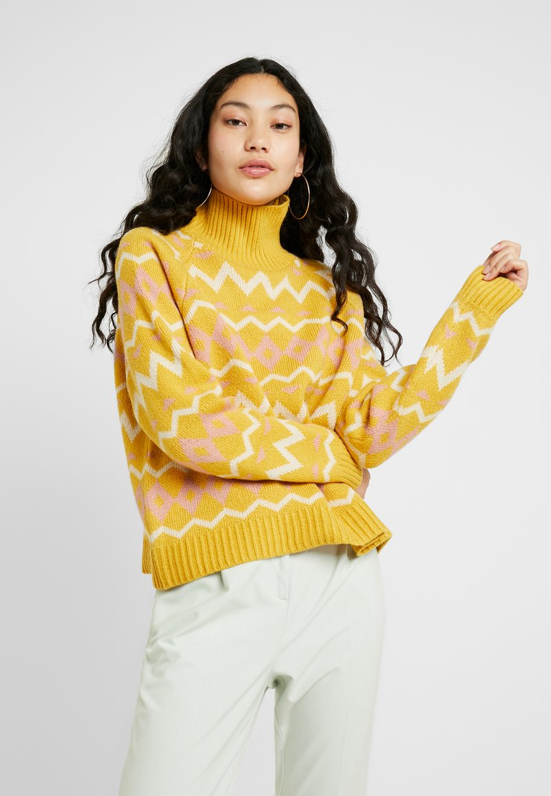 Selected Femme Tall - SLFNORMA - Jumper - lemon curry/cameo brown/sandshell