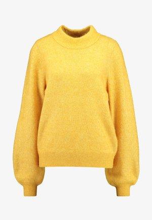 SLFANNA O NECK TALL - Stickad tröja - lemon curry