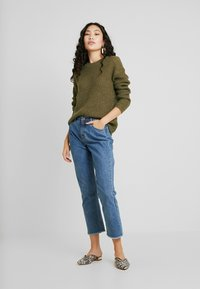 Selected Femme Tall - SLFMALLA O NECK - Svetr - beech - 1
