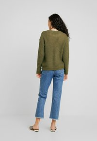 Selected Femme Tall - SLFMALLA O NECK - Svetr - beech - 2