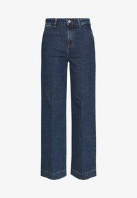 Selected Femme Tall - SLFGENE SPRUCE - Vaqueros a campana - dark blue denim - 4