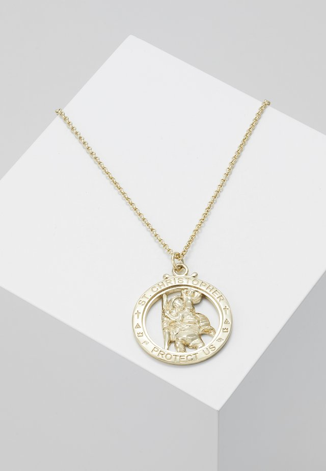 ST CHRISTOPHER NECKLACE - Halsband - gold-coloured
