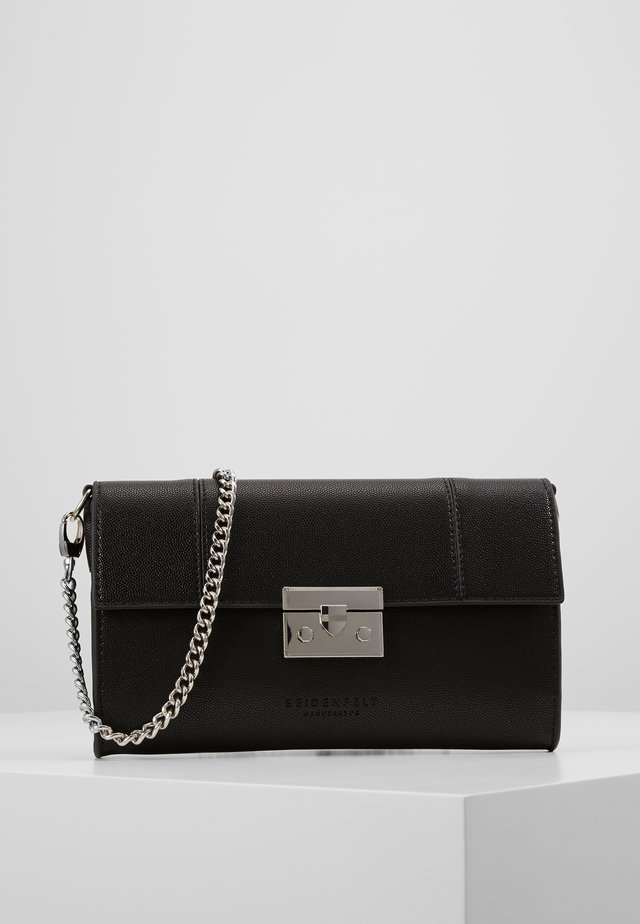ROROS CLUTCH - Pikkulaukku - black/ silver-coloured