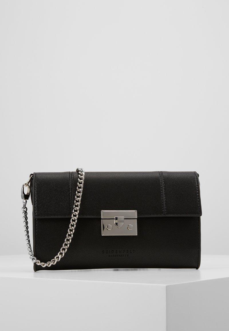 Seidenfelt - ROROS CLUTCH - Pikkulaukku - black/ silver-coloured