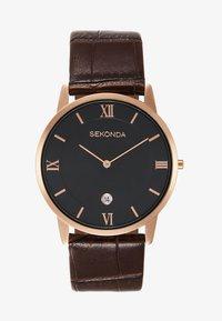 Sekonda - GENTS WATCH ROUND CASE - Horloge - brown - 0
