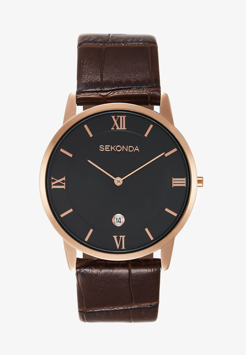 Sekonda - GENTS WATCH ROUND CASE - Horloge - brown