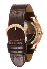 Sekonda - GENTS WATCH ROUND CASE - Horloge - brown - 1