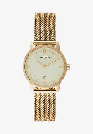 LADIES WATCH ROUND CASE - Watch - gold-coloured