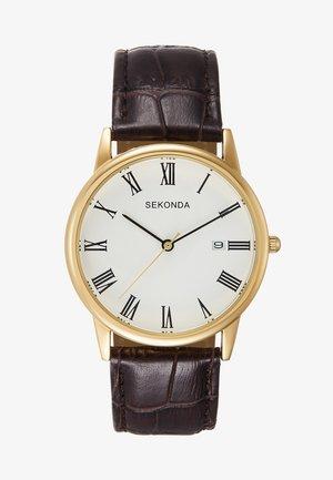 GENTS ANALOGUE WATCH ROUND CASE - Watch - brown