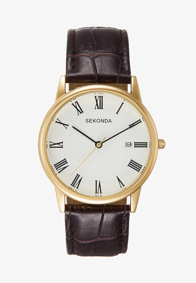 GENTS ANALOGUE WATCH ROUND CASE - Montre - brown