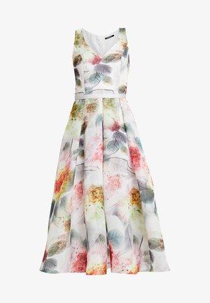 Cocktailkleid/festliches Kleid - cremeweiß/bunt