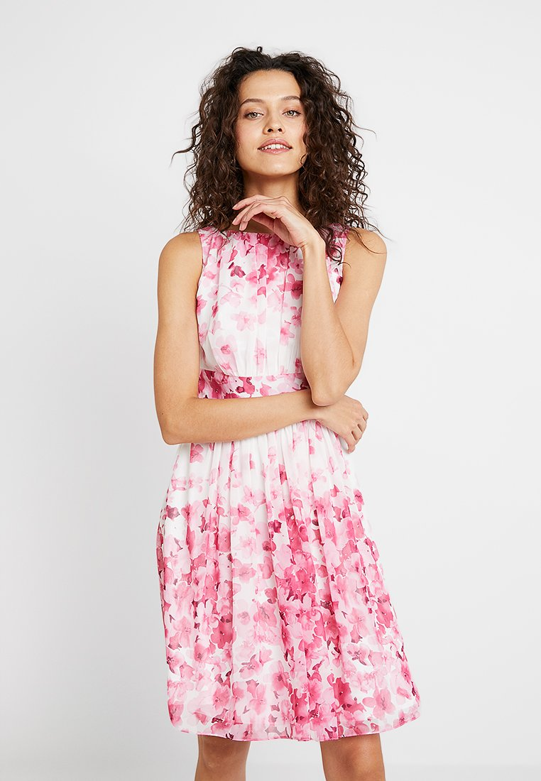 Swing - Cocktailkleid/festliches Kleid - pink/ecru