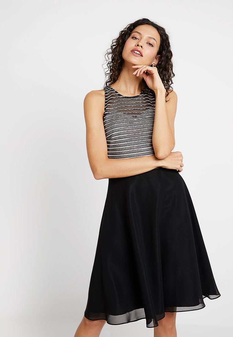 Swing - Cocktail dress / Party dress - peach/black