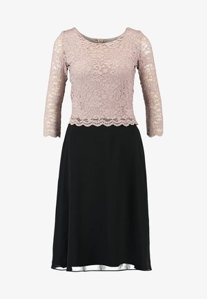 Vestito elegante - puder/schwarz
