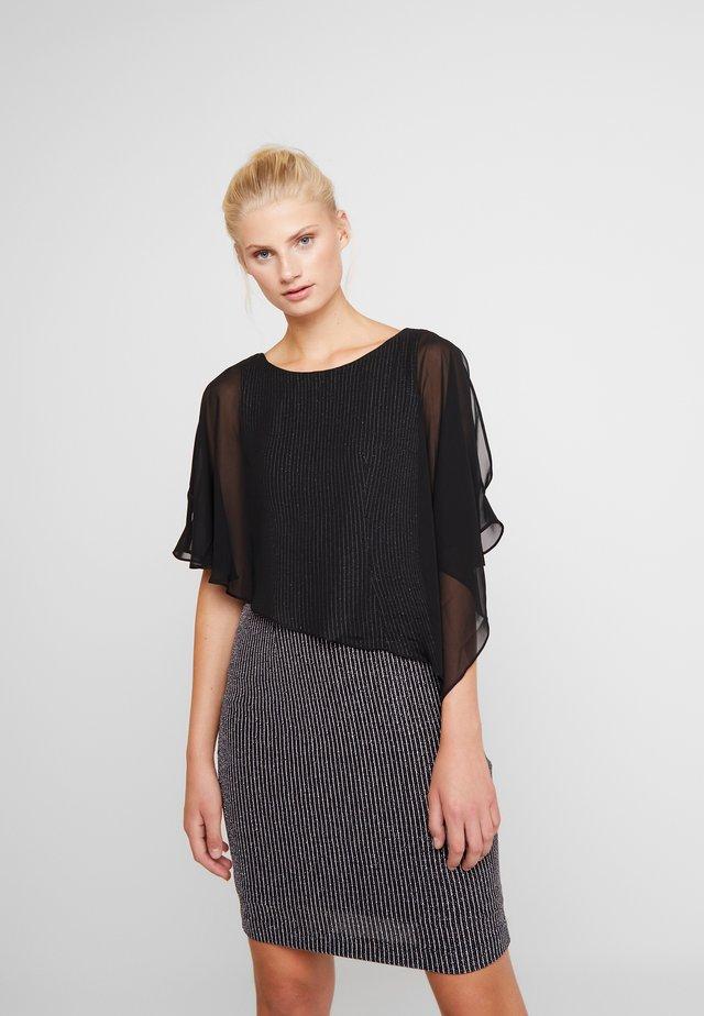Cocktailkleid/festliches Kleid - schwarz/cremeweiss
