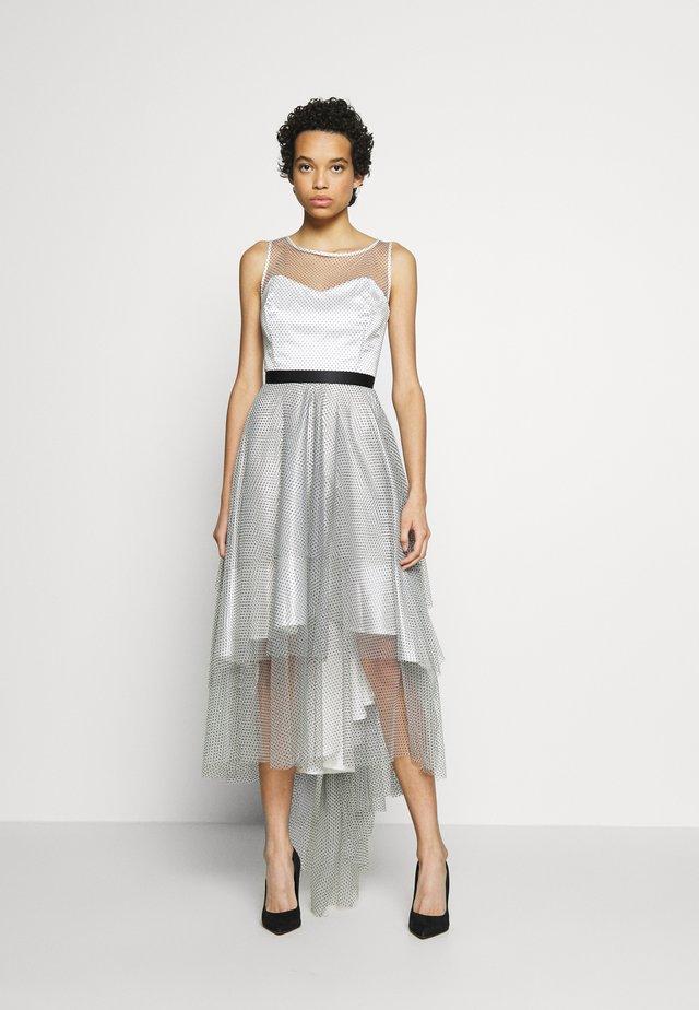 Sukienka koktajlowa - weiß/schwarz