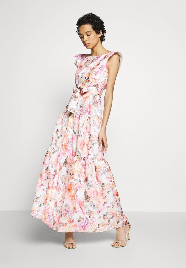 Společenské šaty - cremeweiß/bunt