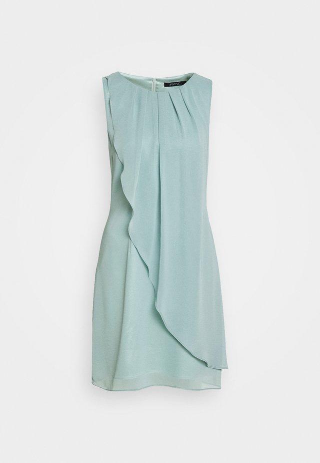 Koktejlové šaty/ šaty na párty - pistazie
