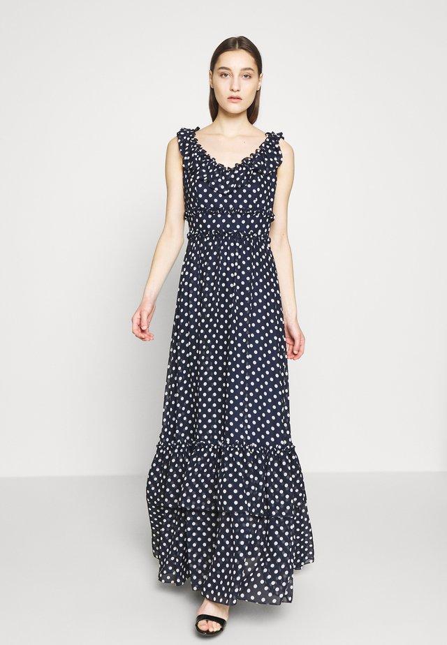 Vestido largo - blau/weiss