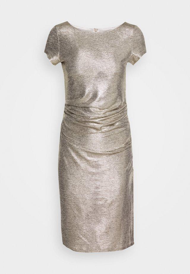 Koktejlové šaty/ šaty na párty - gold