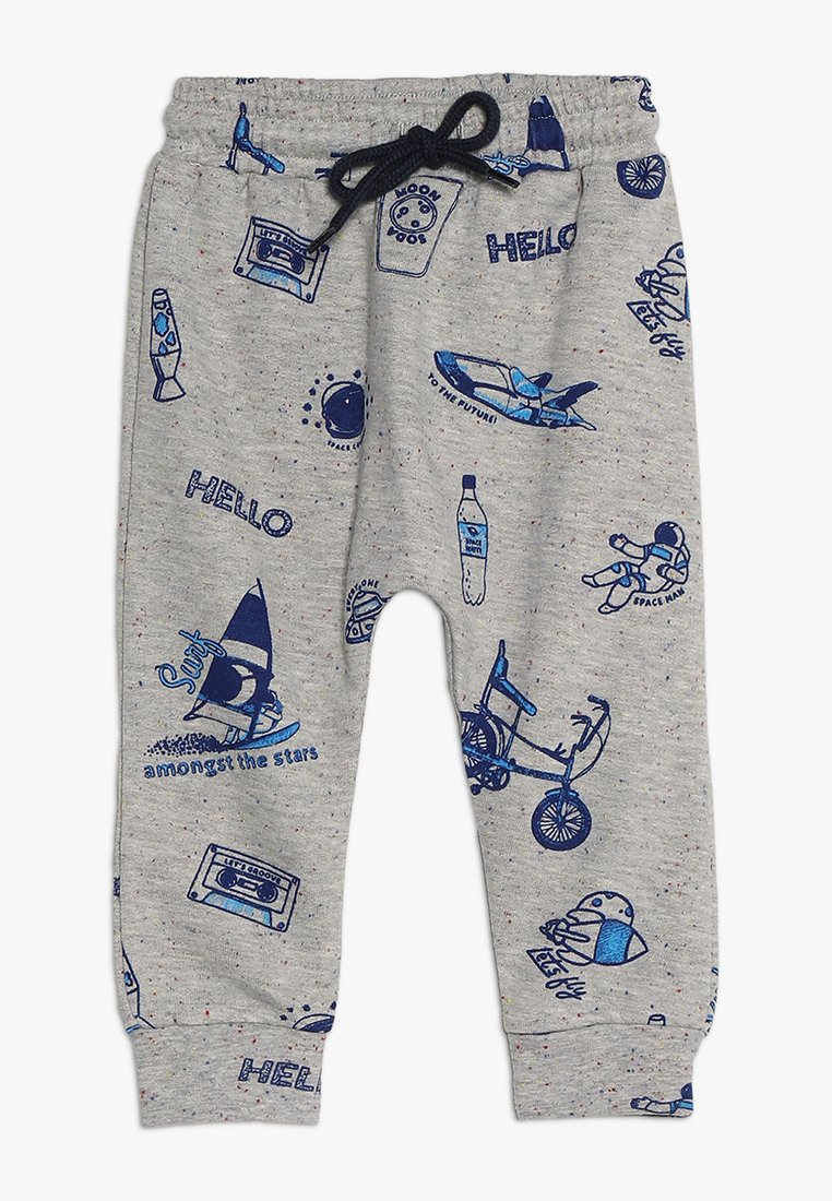 Soft Gallery - MEO PANTS BABY - Stoffhose - mottled grey