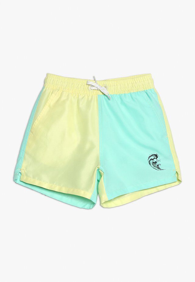 DANDY SWIM PANTS BLOCK BOY WAVE - Plavky - yellow/turquoise