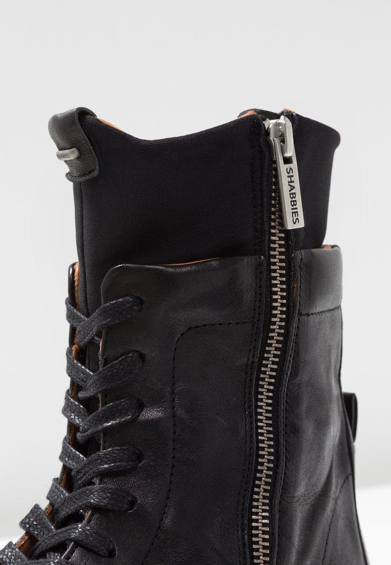 Amsterdam À Bottines Shabbies Lacets Black 3RjAL54q